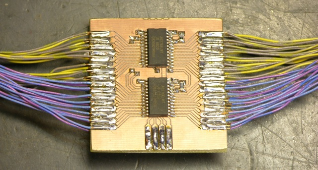 32-LED controller, closeup