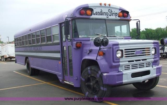 Converted schoolbus, right front