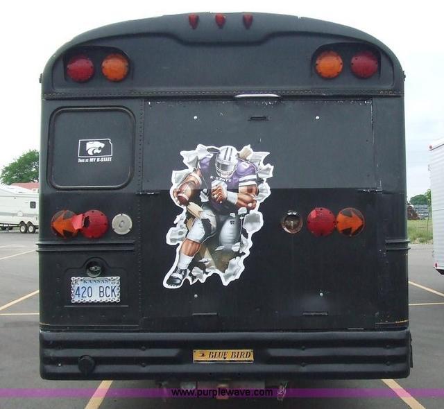 Converted schoolbus, rear