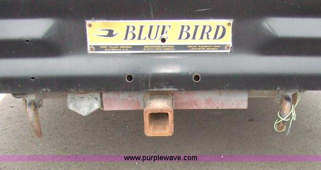 Hitches on rear of converted schoolbus