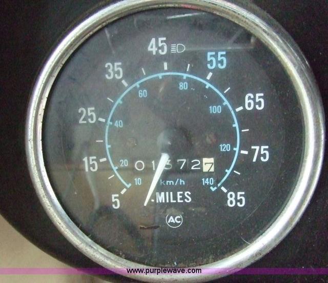 Converted schoolbus speedometer and odometer