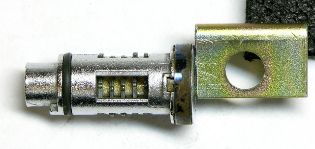 Wafer lock with homemade key, testing second pass of bitting