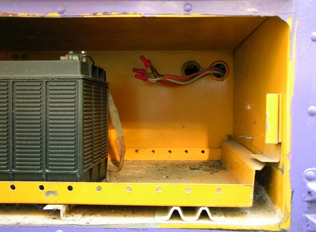 Bus battery compartment and AC wiring