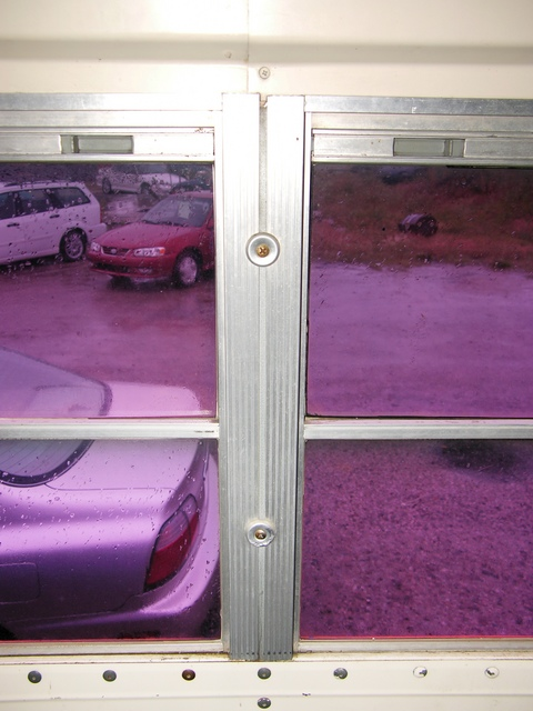 Schoolbus window frames