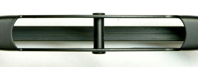 Standard windshield wiper blade, attachment clip removed