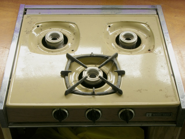 Stovetop before cleaning