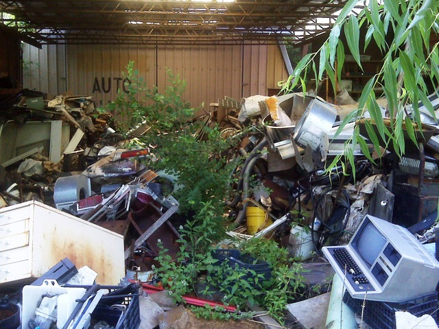 Junk barn at junkyard