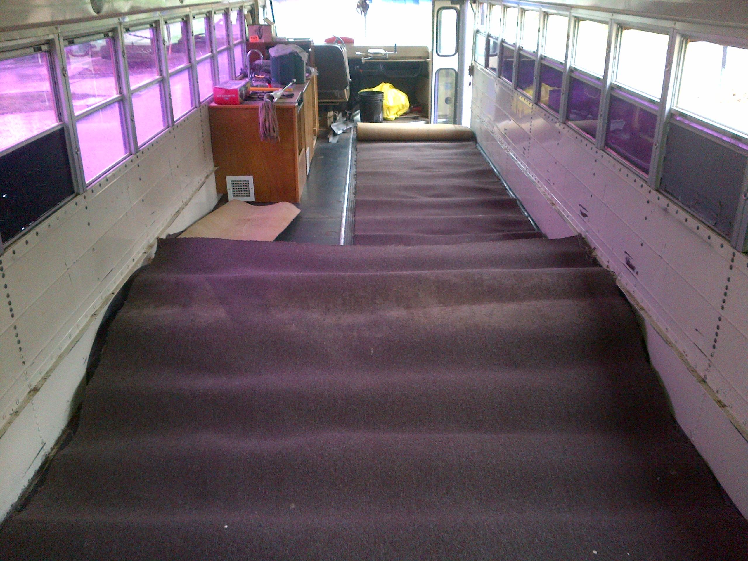 Keiths Schoolbus Conversion Blog Under Carpet Flat Wiring System Additionally Rv Interior Forward View