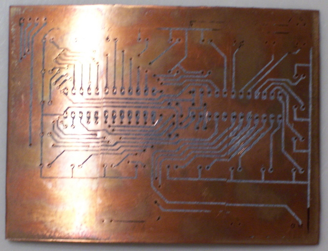 PC Board with Traces Ironed On