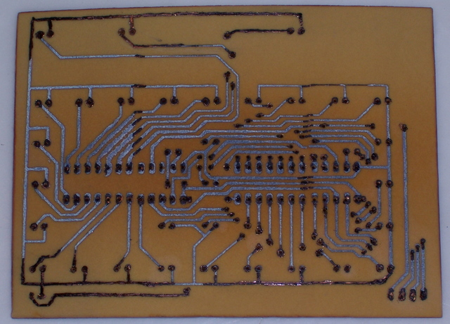 PC Board After Etching