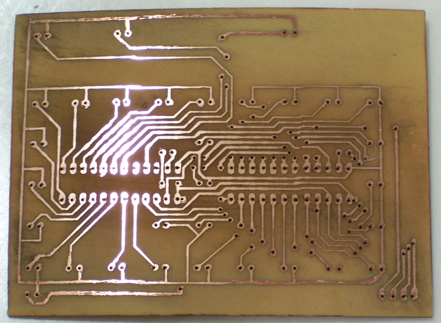 PC Board After Cleaning Etch-Resist