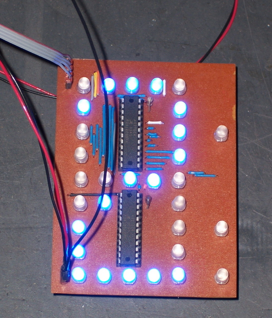 PC Board with LEDs Installed