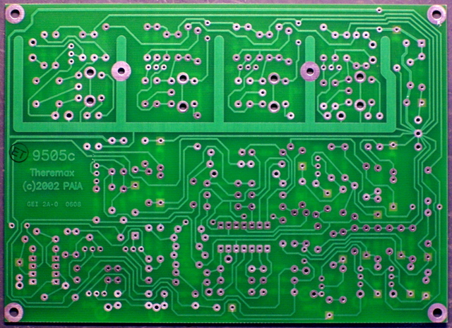 Theremax PC board, solder side