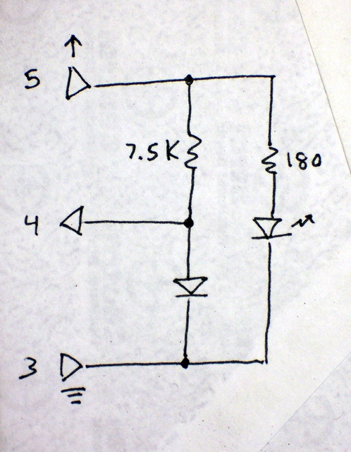 CD read sled connection diagram, redrawn