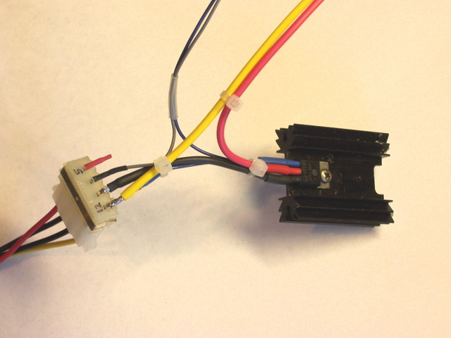 Fully-wired MOSFET and power connector