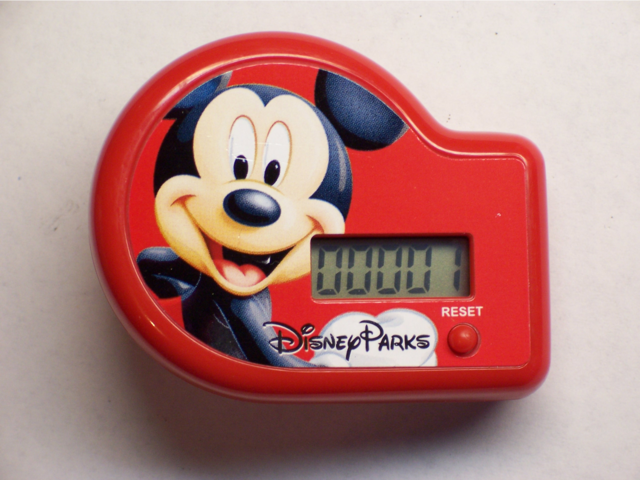 Mickey Mouse step counter from Rice Krispies box