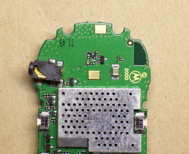 Main board from Motorola cell phone
