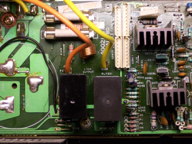 SAE A502 PCB with replaced speaker relay