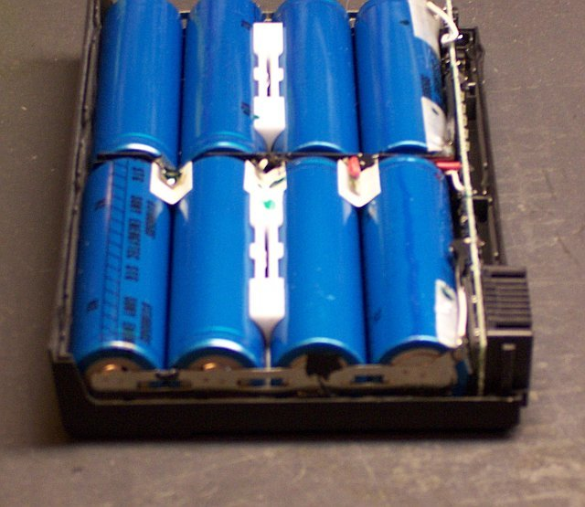 Compaq donor battery, end view