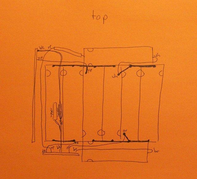 PowerBook battery hookup diagram, top side