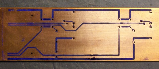 Press 'n' Peel Blue iron-on PCB transfer; no adhesion around holes
