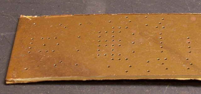 PCB board with drilled holes