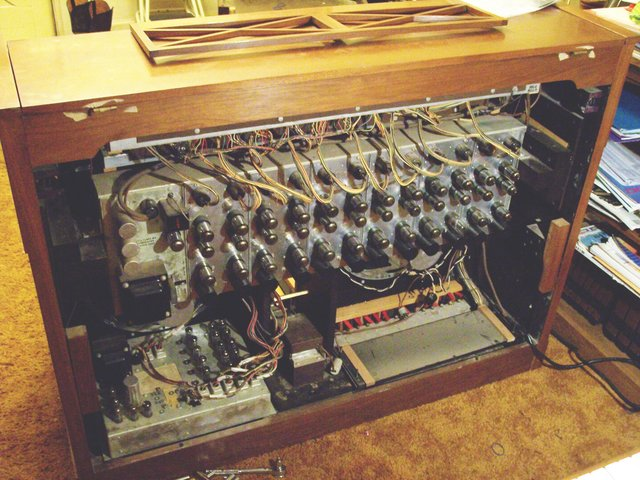 Baldwin Electronic Organ Model 45HP2, back open