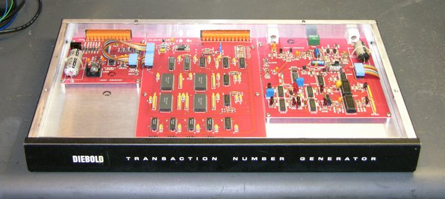 Diebold Transaction Number Generator, front view