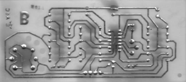 Flammable gas detector, solder-side scan