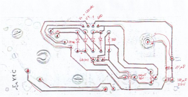 Flammable gas detector, power board scan / schematic