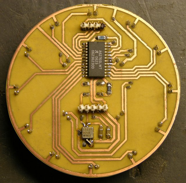 LED puck I/O prototype, copper side