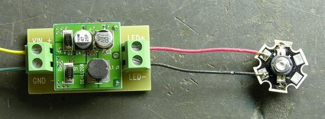 LED driver and 3W green LED