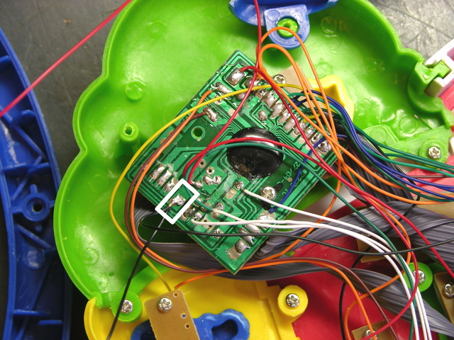 Alphabet training toy main circuit board