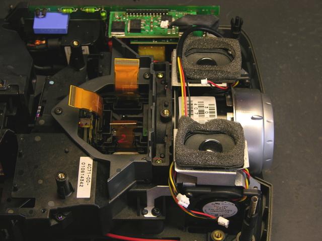 Interior of InFocus LP290 Projector