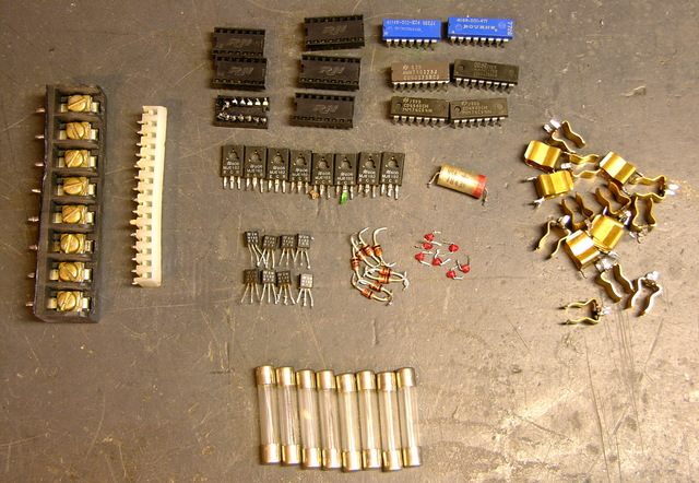 Salvaged electronic components