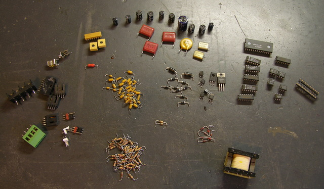 Salvaged electronic parts
