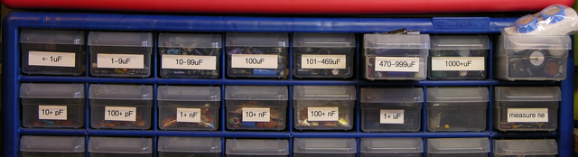 Capacitor drawers