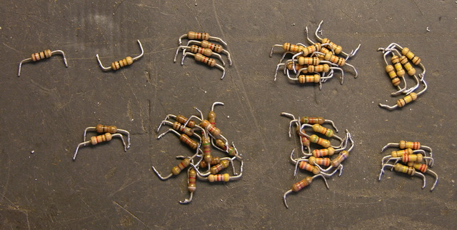 Sorted resistors