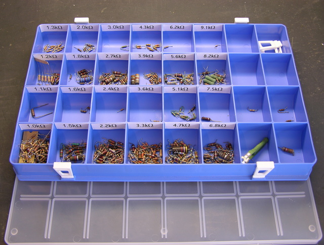 resistor tray
