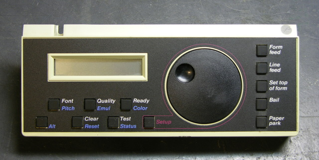 AMT Accel-500 printer control panel