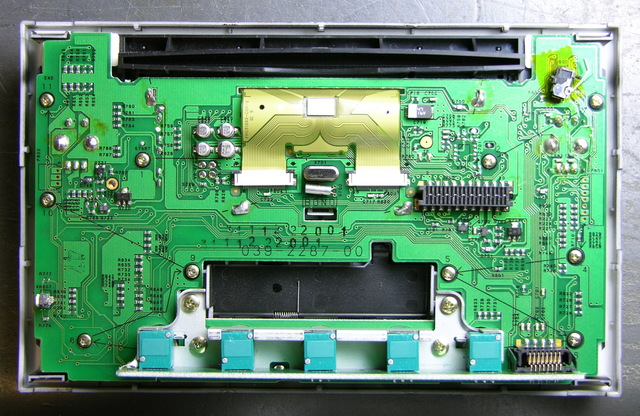 VW car stereo front panel, back side