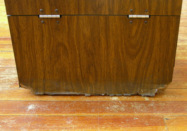 Water-damaged cabinet