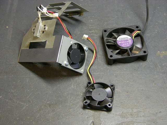 Three projector cooling fans