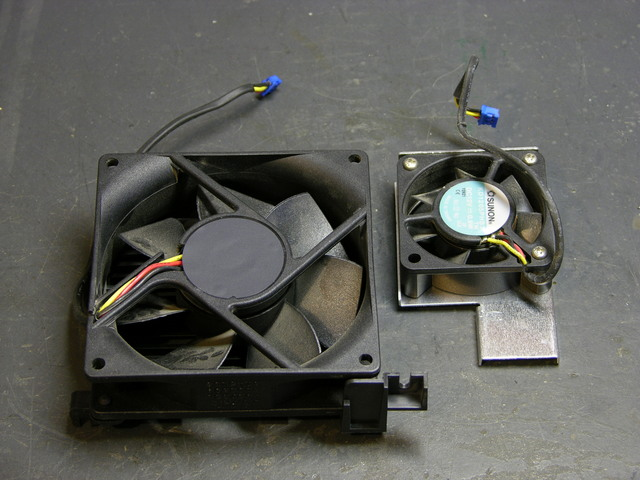 Two projector cooling fans
