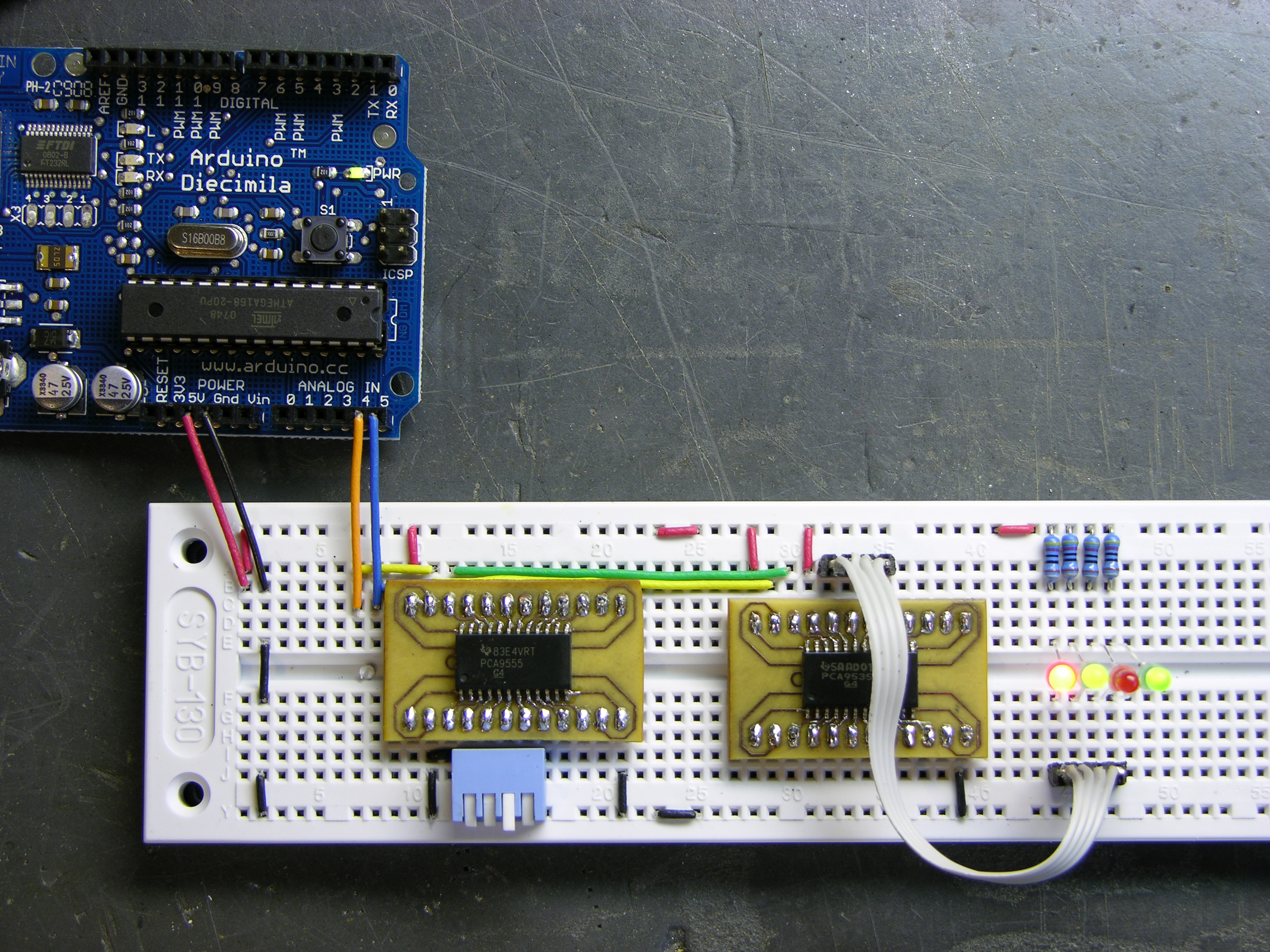 Arduino I2C Expansion I/O « Keith's Electronics Blog