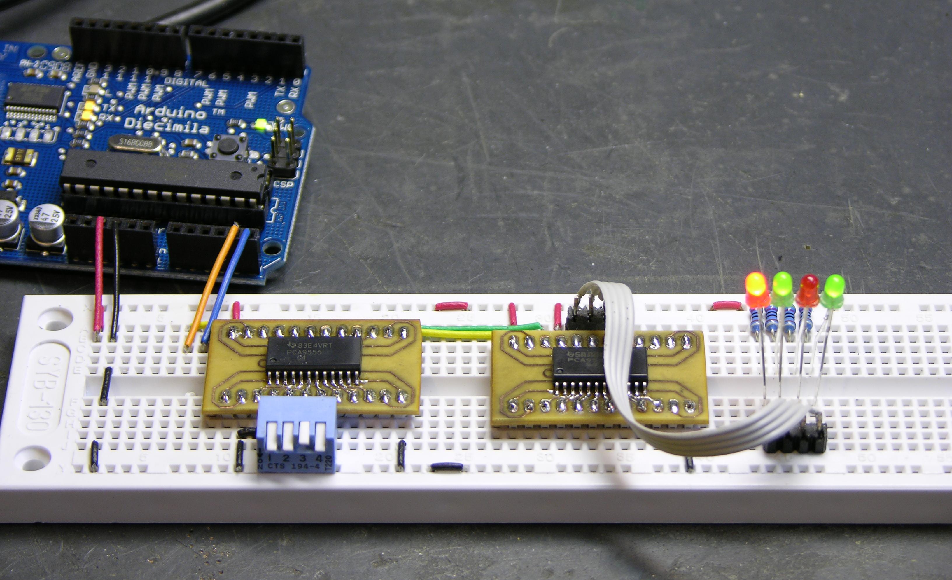 Arduino I2C Expansion I/O « Keith's Electronics Blog