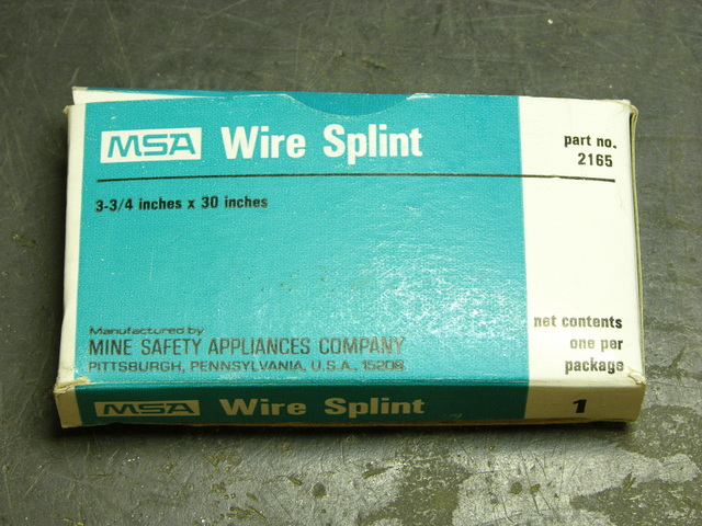 Wire splint box, front cover