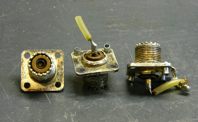 Oxidized SO-239 jacks