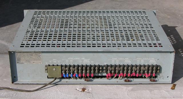 General Dynamics power supply, rear