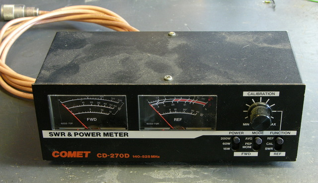 Comet CD-270D SWR & Power Meter, front